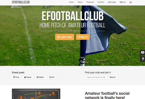 Site internet multi-lingue club football
