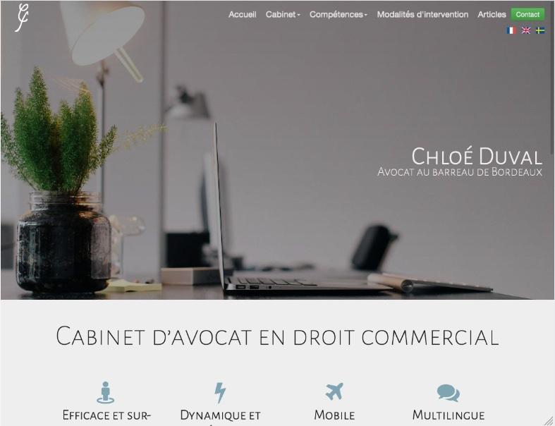 Site cabinet avocat d'affaires