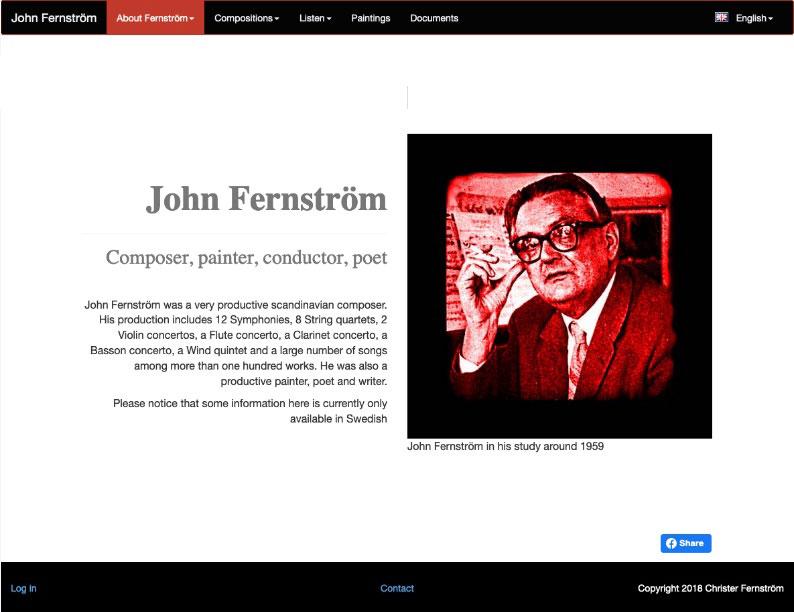 Site internet compositeur et peintre