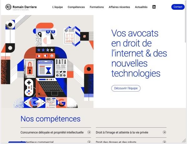 Site internet pour cabinet d'avocat spécialisé dans les nouvelles technologies