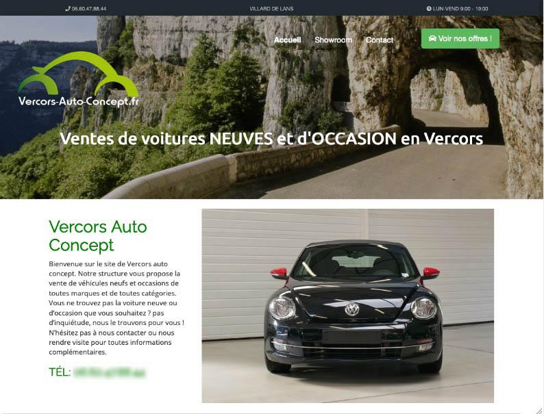 Site internet vendeur d'automobiles