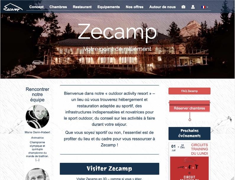 Site pour la gestion d'hôtel et restaurant